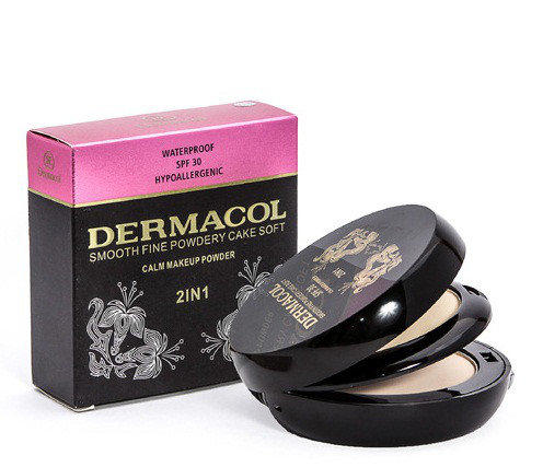 КОМПАКТНАЯ ПУДРА DERMACOL 2 IN 1 SMOOTH FINE POWDERY CAKE SOFT