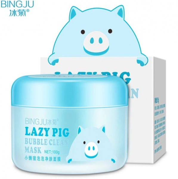 Кислородная маска для лица Lazy pig bubble clean mask